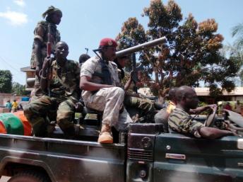 Des combattants de la Selakaphoto: AFP/PACOME PABANDJI