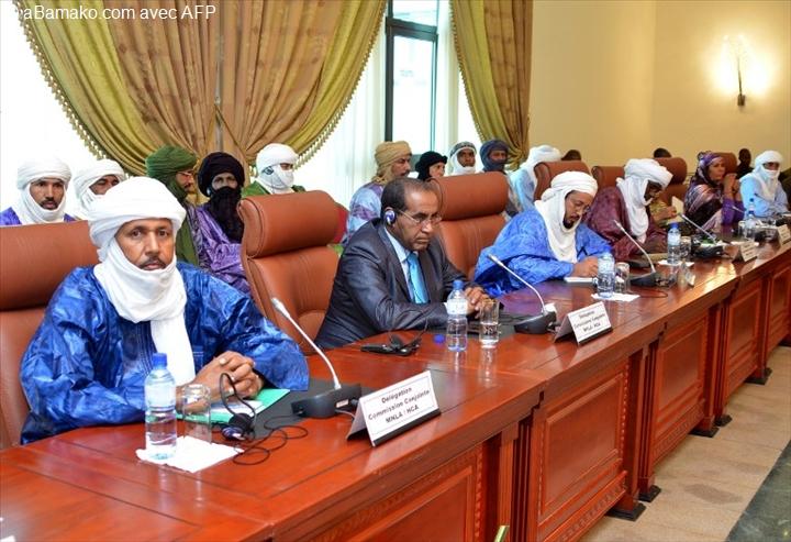 Les groupes rebelles aux négociations de Ouagadougou Photo: Maliwab.net