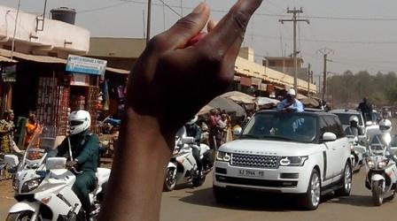 Le président de passage à Kalaban-coro Photo: Boubacar