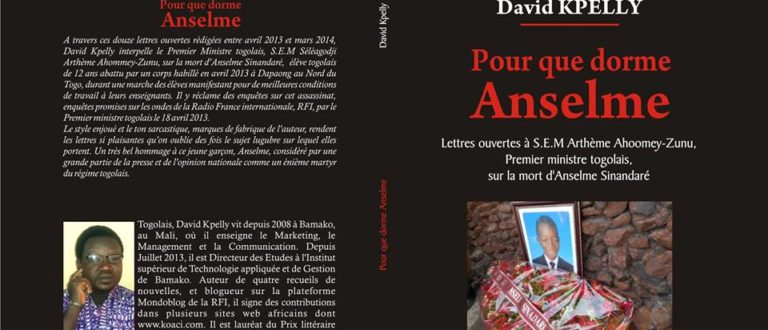 Article : Livre : pour Anselme Sinandaré, David Kpelly crie